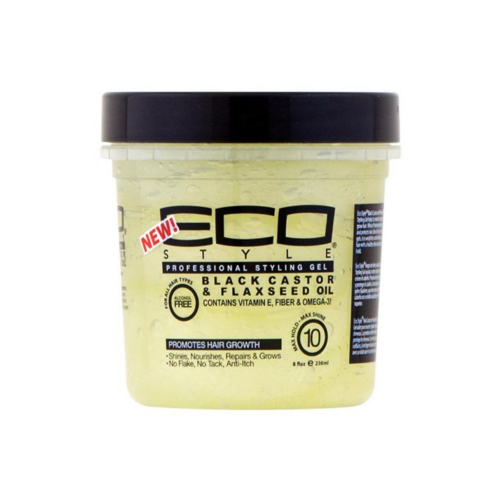 Eco Style Professional styling gel black castor & flaxseed oil 12oz