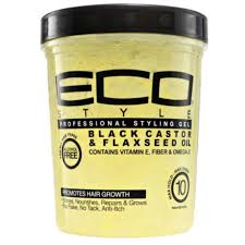 Eco Style Professional Styling Gel Black Castor & Flaxseed Oil 32oz