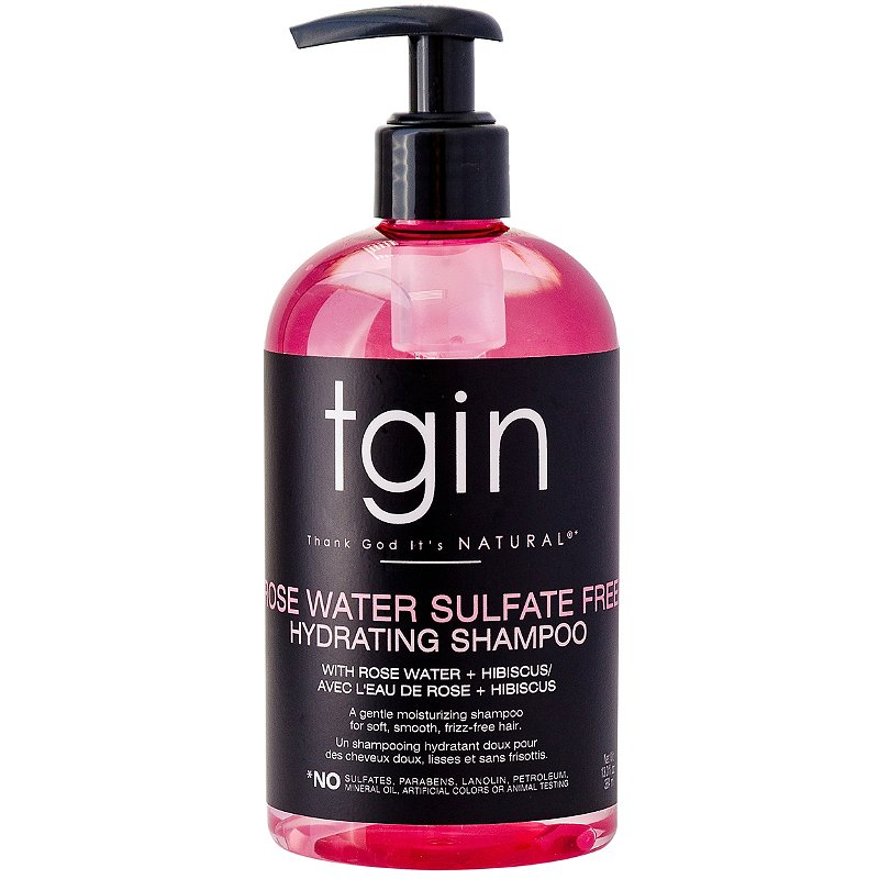 tgin Rose Water Sulfate-Free Hydrating Shampoo
