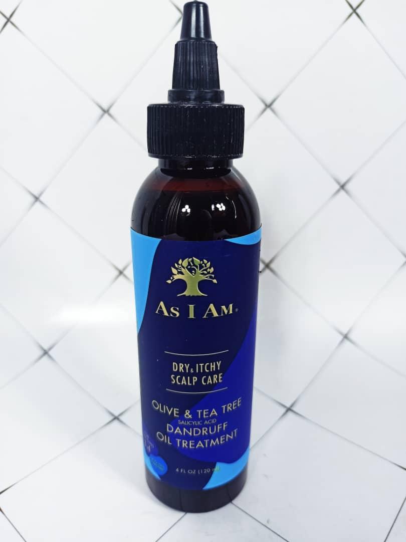 As i am Dry & Itchy Scalp Care Olive & Tea Tree Oil Dandruff Oil Treatment 4oz