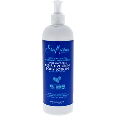 Shea Moisture 100% Marula oil & Organic Shea Butter Fragrance free sensitive skin body lotion