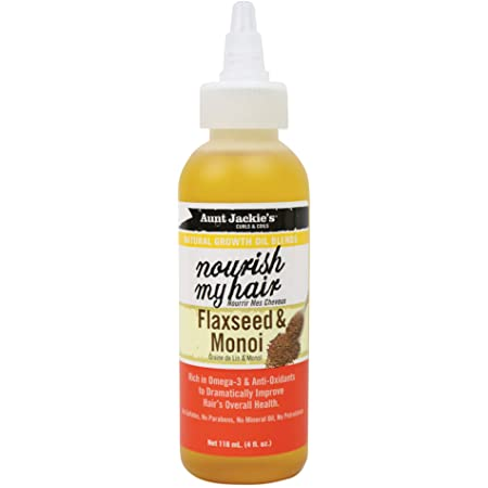 Aunt Jackie's natural growth oil blends NOURISH MY HAIR flaxseed and monoi oil