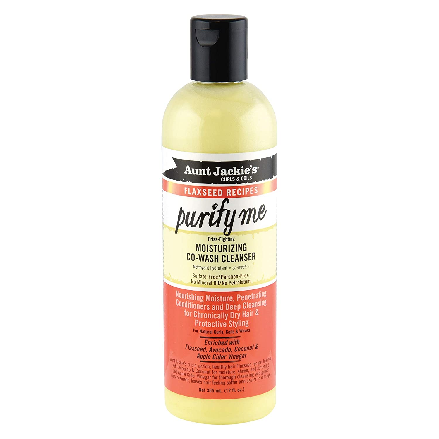 Aunt Jackie's curls & coils flaxseed recipes PURIFY ME moisturizing co-Wash cleanser (12 oz.)
