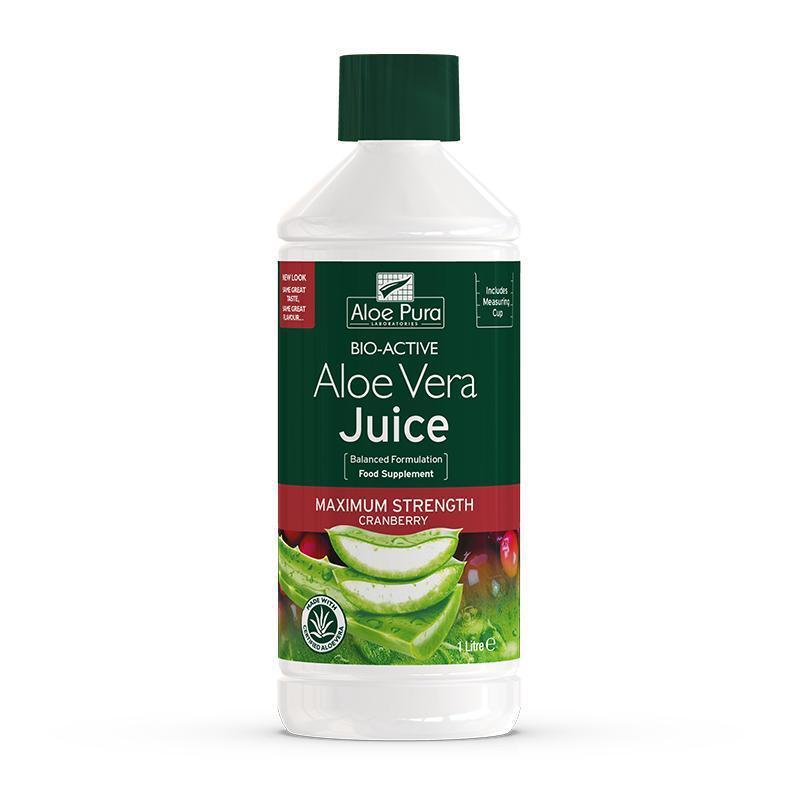 Aloe Pura Max Strength Cranberry Juice 1lt