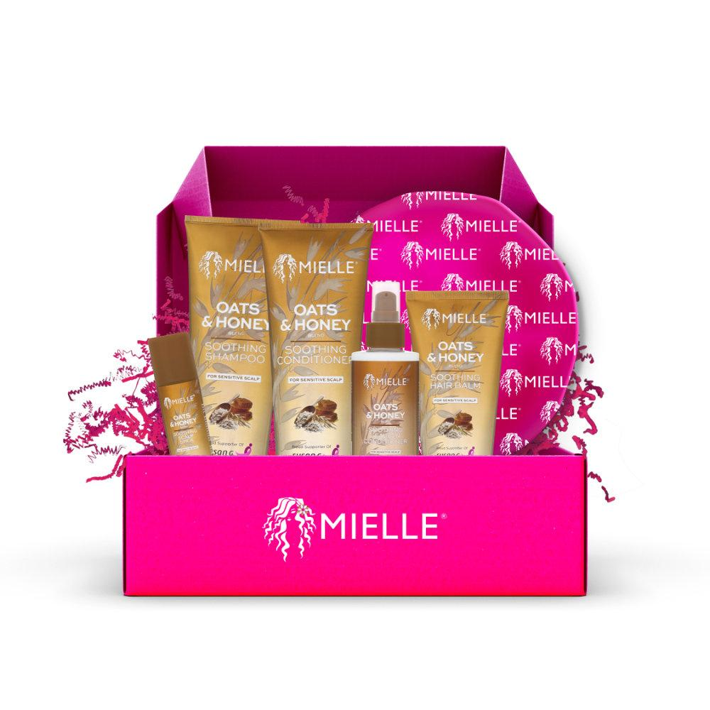 Mielle OATS & HONEY BLEND SOOTHING SET (FOR SENSITIVE SCALP) COMES WITH A BRANDED MIELLE BONNET