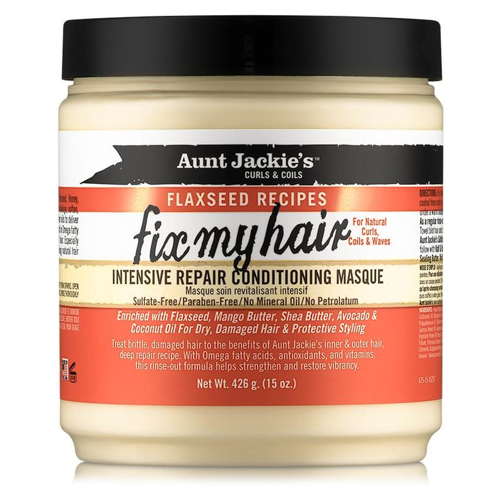 Aunt Jackie's curls & coils flaxseed recipes FIX MY HAIR intensive repair conditioning masque (15 oz.)
