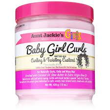 unt Jackie's curls & coils Kids BABY GIRL CURLS curling & twisting Custard (15 oz.)