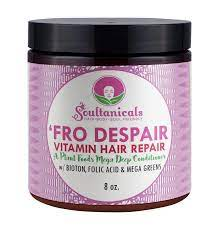 Soultanicals fro despair vitamin hair repair deep conditioner