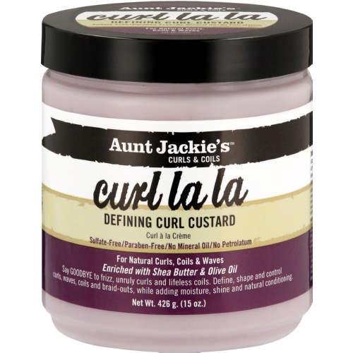 Aunt Jackie's curls and coils CURL LA LA defining curl custard 15oz