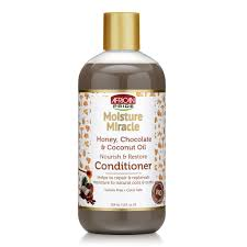 African pride moisture miracle honey, chocolate & coconut oil conditioner