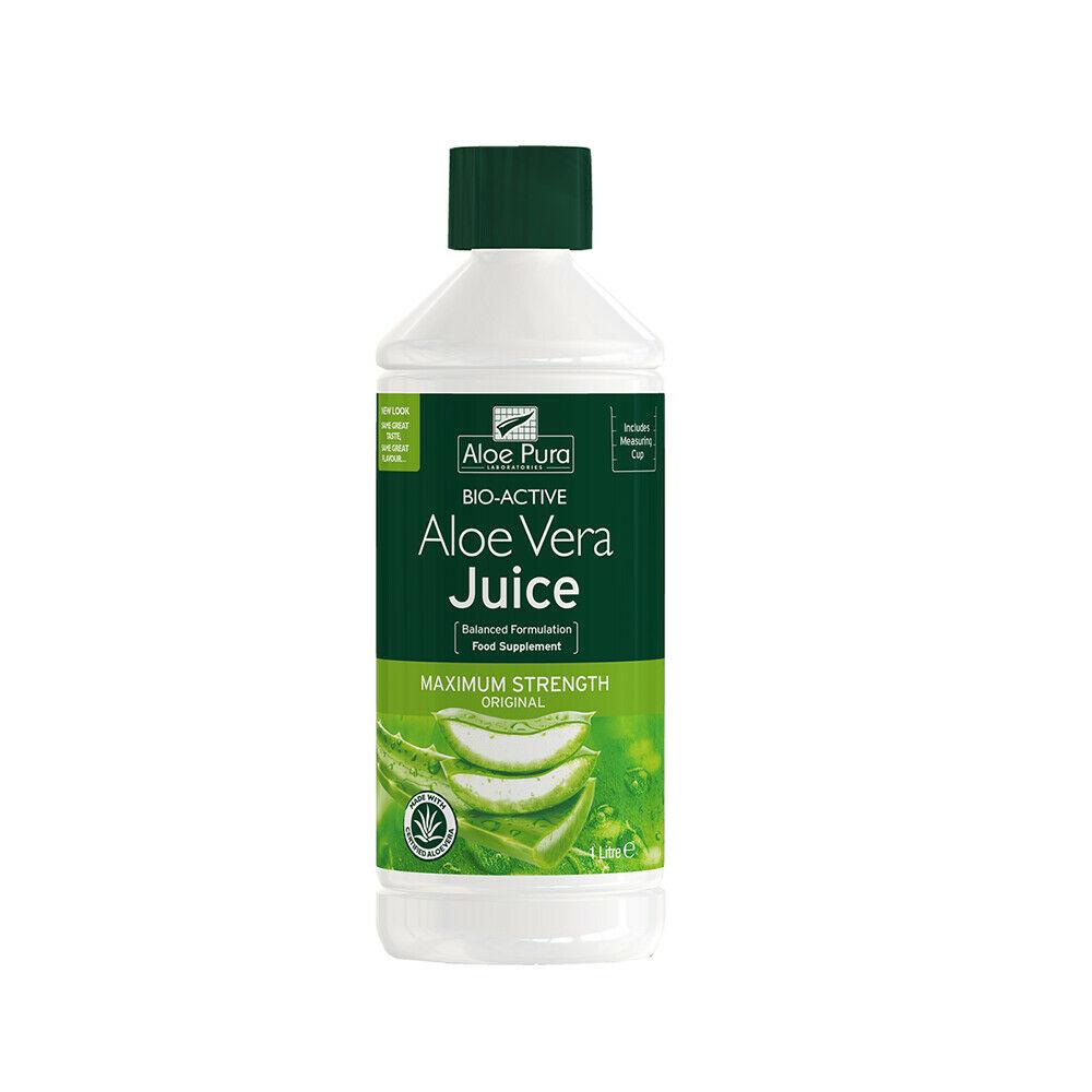 Aloe Pura Maximum Strength Aloe Vera Juice 1litre